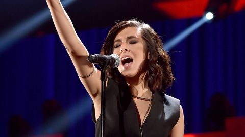 Singer Christina Grimmie performs onstage at the 2015 iHeartRadio Music Festival at MGM Grand Garden Arena on September 18, 2015 in Las Vegas, Nevada.