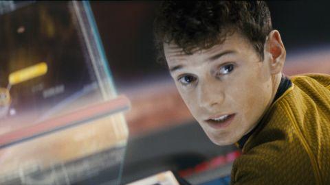 "Anton Yelchin as Ckekov in ""Star Trek."""