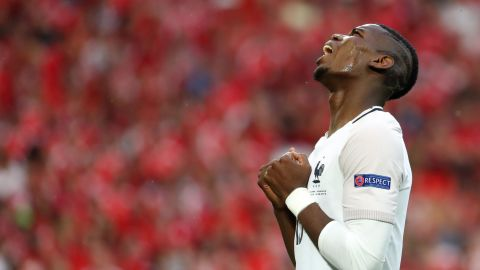 The game itself finished 0-0, a result that ensured France topped Group A, with Switzerland in second.