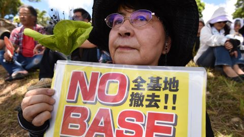 Organizers claimed this was the largest demonstration in Okinawa since 1995, when three Americans raped a local 12-year-old girl.