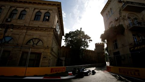 """The track is also home to the tightest section of track in F1. At its narrowest point, the """"Tower turn"""" (pictured) is just 7.5 meters wide."""