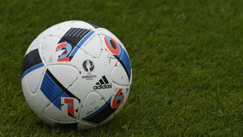 The ball in its fully inflated glory. Adidas predicts its Euro 2016 sponsorship will push its football apparel sales to record levels.