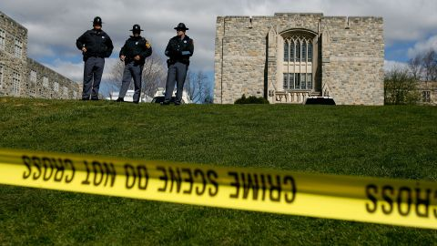 The Virginia Tech campus in Blacksburg, after a 23-year-old student went on a shooting spree.