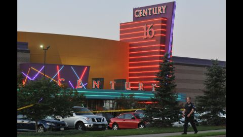 A gunman attacked moviegoers at this theater in Aurora, Colorado.