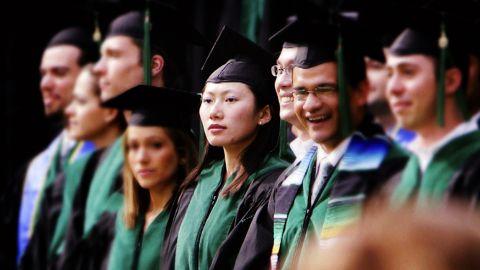 Kellie Lim graduates from the David Geffen School of Medicine at UCLA in 2007.