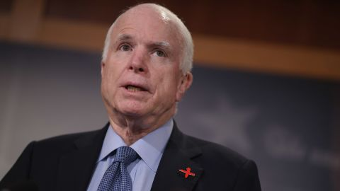 Senate Armed Services Committee Chairman John McCain speaks at a news conference at the U.S. Capitol February 24, 2016 in Washington, DC.