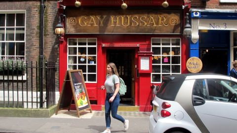 """The wood-paneled <a href=""""http://gayhussar.co.uk/"""" target=""""_blank"""" target=""""_blank"""">Gay Hussar</a> has been a fixture of London's Soho for decades, serving traditional Hungarian cuisine to a clientele that often includes journalists and politicians."""