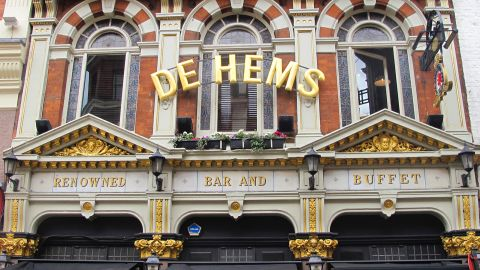 """A slice of the Netherlands in, confusingly, Chinatown, <a href=""""http://www.nicholsonspubs.co.uk/restaurants/london/dehemsdutchcafebarsoholondon"""" target=""""_blank"""" target=""""_blank"""">De Hems</a> serves Dutch beer and food including fried cheese parcels."""