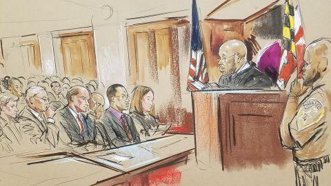 Courtroom sketch