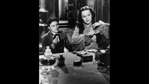 """Richard Burton made his American screen debut with de Havilland in the film version of the Daphne du Maurier mystery """"My Cousin Rachel"""" (1952). The actress was effective in an atypical and ambiguous role: Was she a sympathetic heroine or an unscrupulous killer?"""