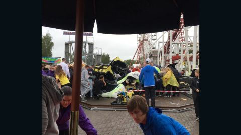 """The """"Tsunami"""" roller coaster derailed on Sunday afternoon"""