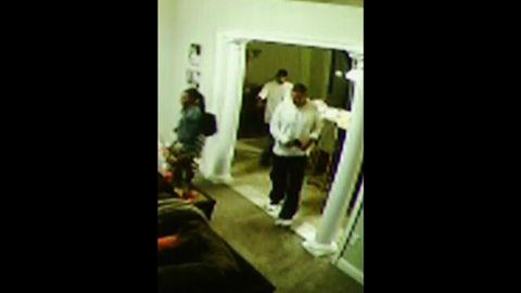 Surveillance camera footage from Aaron Hernandez's home