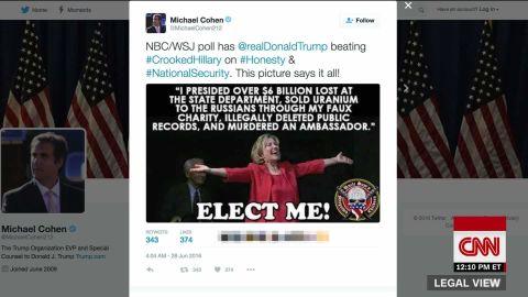 Trump aide clinton murderer tweet lv_00001326.jpg