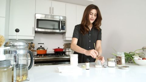 To avoid plastic packaging Singer even makes her own toothpaste using just three ingredients -- coconut oil, baking soda, and peppermint oil.