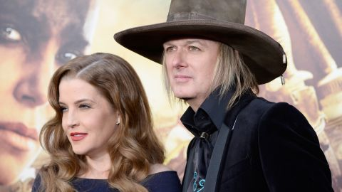 """Lisa Marie Presley <a href=""""http://www.people.com/article/lisa-marie-presley-divorce-michael-lockwood"""" target=""""_blank"""" target=""""_blank"""">reportedly filed for divorce in June </a>from her husband of 10 years, musician Michael Lockwood. He was Presley's fourth husband after Danny Keough, Michael Jackson and Nicolas Cage."""
