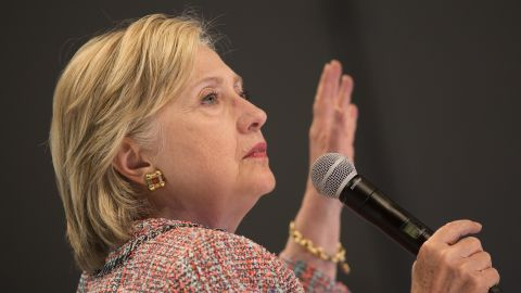 Democratic presidential candidate Hillary Clinton answers a question from an audience member at a town hall discussion with digital content creators at Neuehouse Hollywood on June 28, 2016 in Los Angeles, California.