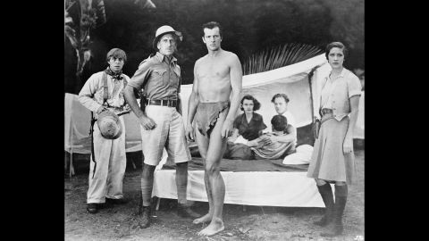 """American actor Herman Brix  (later known as Bruce Bennett), plays Tarzan in 1938's """"Tarzan and the Green Goddess,"""" a cloak-and-dagger adventure (there's a super-explosive hidden in an idol) set in Guatemala. It features perhaps<a href=""""https://www.youtube.com/watch?v=JxdCLobQnaQ"""" target=""""_blank"""" target=""""_blank""""> the most absurd Tarzan yell ever. </a>"""