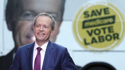 Australian Labor Party leader Bill Shorten speaks on the last day of campaigning in Sydney, Australia.
