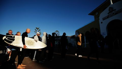 Voters line up at Bondi Surf Bathers' Life Saving Club in Sydney July 2. Australians were voting for their first since 2013, amid the global economic fallout from the UK's Brexit vote.
