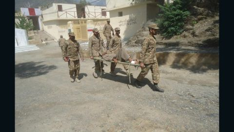 The Pakistan Army carries out a relief and rescue operation in Chitral.
