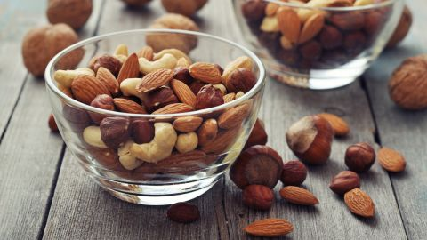 """The study found that if people replaced a mere 5% of their calorie intake from """"bad"""" fats with polyunsaturated fats, they could reduce their risk of death by 27%. <a href=""""http://www.heart.org/HEARTORG/HealthyLiving/HealthyEating/Nutrition/Polyunsaturated-Fats_UCM_301461_Article.jsp#.V3qApfkrIdU"""" target=""""_blank"""" target=""""_blank"""">Polyunsaturated fats </a>contain essential fats your body can't produce by itself, such as omega-6 and omega-3 fatty acids. You must get these essential fats through the food you eat. One of the best sources is nuts: Small servings of 10 to 15 nuts can go a long way toward good health."""