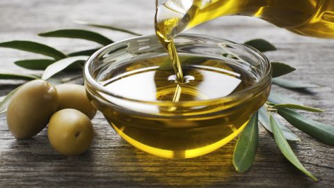 """The study also found that risk of mortality dropped by 13% if people replaced a mere 5% of their calorie intake from bad fats with <a href=""""http://www.heart.org/HEARTORG/HealthyLiving/HealthyEating/Nutrition/Monounsaturated-Fats_UCM_301460_Article.jsp#.V3qpfPkrIdU"""" target=""""_blank"""" target=""""_blank"""">monounsaturated fats</a>. These fats are typically liquid at room temperature but when chilled begin to turn solid. The most famous example of a monounsaturated fat is olive oil, a key player in the <a href=""""http://www.heart.org/HEARTORG/HealthyLiving/HealthyEating/Mediterranean-Diet_UCM_306004_Article.jsp#.V3qo6PkrIdU"""" target=""""_blank"""" target=""""_blank"""">Mediterranean diet</a>, often touted as one of the healthiest in the world."""