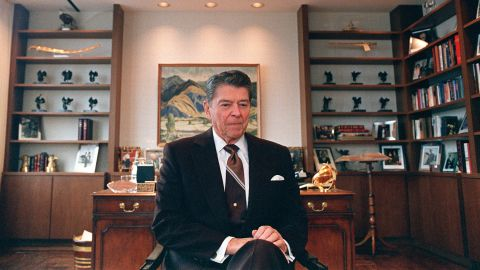 """President Ronald Reagan's (1911-2004) <a href=""""http://politicalticker.blogs.cnn.com/2011/01/14/reagans-son-father-showed-signs-of-alzheimers-in-white-house/"""">son wrote</a> that he believed his father showed early signs of Alzheimer's while still serving as president."""