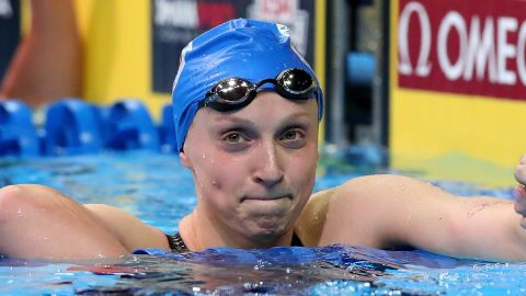 """<a href=""""http://edition.cnn.com/2016/07/06/sport/katie-ledecky-rio-2016-us-swimming/"""">Katie Ledecky stunned the world at London 2012 </a>by clocking the second fastest 800m time in history and winning the gold at the age of just 15. Since then, the U.S. star has set 11 world records and won every major international race she has competed in."""