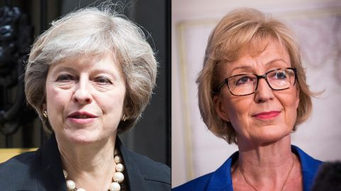 Conservative MPs Theresa May, left, and Andrea Leadsom will vie to be Britain's next PM.