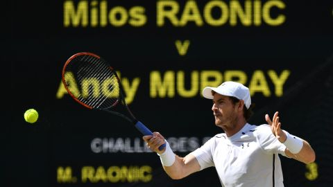 Leading by two sets to love, Murray opened the third set needing just one more to secure the title.