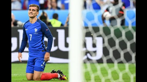 Antoine Griezmann, the tournament's top scorer with six goals, wasted a glorious opportunity to win it for France with the scores level at 0-0.
