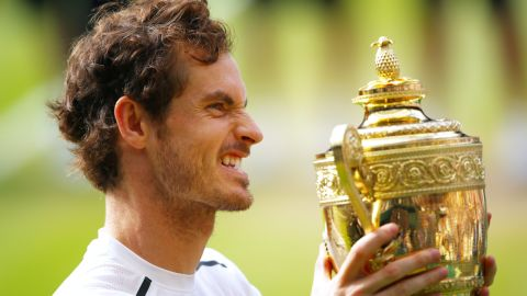 Murray lifted the famous trophy -- his third grand slam title.