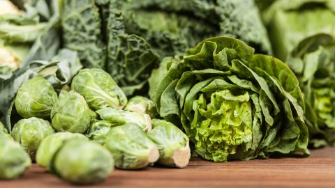 """Leafy vegetables, along with dried beans and peas, are a good food source of folic acid. When pregnant, the <a href=""""https://medlineplus.gov/ency/patientinstructions/000584.htm"""" target=""""_blank"""" target=""""_blank"""">National Library of Medicine</a> recommends getting at least two of your daily servings of vegetables from green, leafy veggies."""