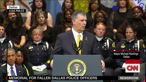 dallas police officers memorial mayor michael rawlings sot _00000000.jpg