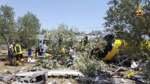 The crash happened about 7 kilometers east of the city of Andria.