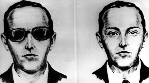 """This undated artist' sketch shows the skyjacker known as D.B. Cooper from recollections of the passengers and crew of a Northwest Airlines jet he hijacked between Portland and Seattle on Thanksgiving eve in 1971. The FBI says it's no longer actively investigating the unsolved mystery of D.B. Cooper. The bureau announced it's """"exhaustively reviewed all credible leads"""" during its 45-year investigation. (AP-Photo, file)"""