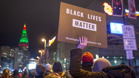 """Black Lives Matter demonstrators march in Cleveland on December 29, 2015, after a grand jury <a href=""""http://www.cnn.com/2015/12/28/us/tamir-rice-shooting/"""" target=""""_blank"""">declined to indict Cleveland Police officer</a> Timothy Loehmann for the fatal shooting of Tamir Rice on November 22, 2014."""