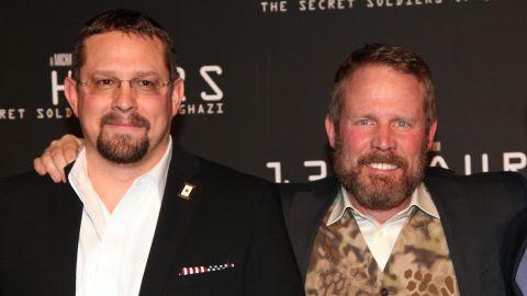 John Tiegen, left, and Mark Geist, survivors of the Benghazi attack