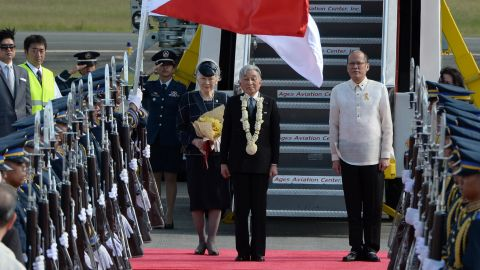 Then Philippine President, Benigno Aquino welcomes Emperor Akihito and Empress Michiko as they start their 5-day state visit to the Philippines on January 26, 2016. A gesture to honor 60 years of strong diplomacy post-WWII, their trip marked the first-ever visit by a reigning Japanese emperor to the Philippines.