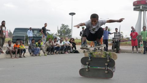 Pictured here, local kids try out new tricks. The park reportedly pulls in kids from more privileged backgrounds as well as those from less well-off neighborhoods. <br />