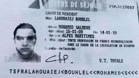 Mohamed Lahouiej Bouhlel ID Card