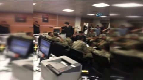 Turkish military inside state TV