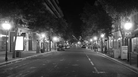 A street off the Promenade des Anglais.