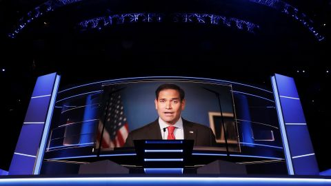 U.S. Sen. Marco Rubio, another one of Trump's primary opponents, delivers a video message.