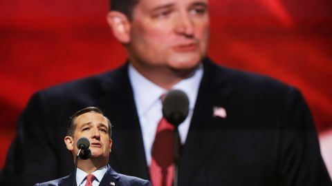 """U.S. Sen. Ted Cruz, Trump's main adversary in the primaries, was booed at the end of his speech when it was clear he wasn't endorsing Trump. Cruz told people to """"vote your conscience."""""""