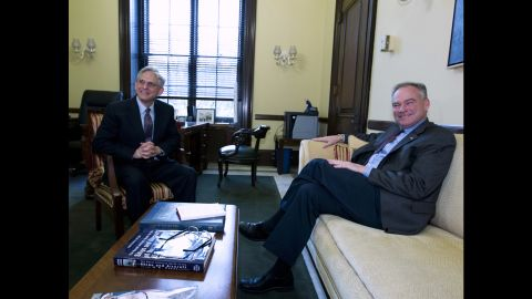 Kaine meets in April with Judge Merrick Garland, Obama's choice to replace the late Justice Antonin Scalia on the U.S. Supreme Court.