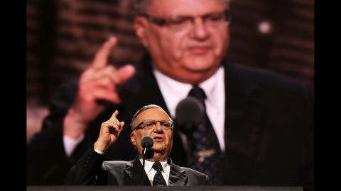 Joe Arpaio, at the Republican National Convention last year.