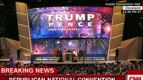 rnc convention donald trump family mike pence celebration on stage vo_00013127.jpg