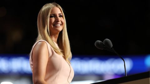 Ivanka Trump delivers a speech during the evening session on the fourth day of the Republican National Convention on July 21, 2016 at the Quicken Loans Arena in Cleveland, Ohio.