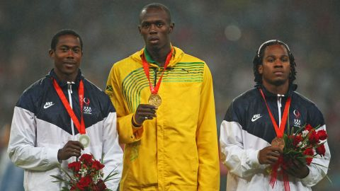 Bolt's first Olympic triple was completed with the 200m gold medal, beating American pair Shawn Crawford and Walter Dix to the crown.